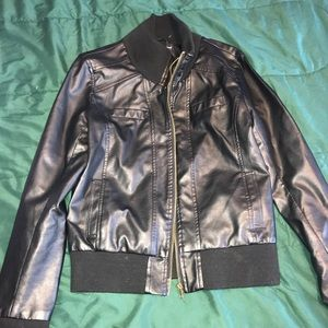 Jackets & Blazers - Faux Leather Jacket (NEVER WORN)